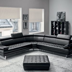 divano design pelle bruma vogue